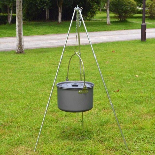 New Outdoor Cooking Camping Campfire Pan Pot 5-8 Marching Pot Picnic Cauldron
