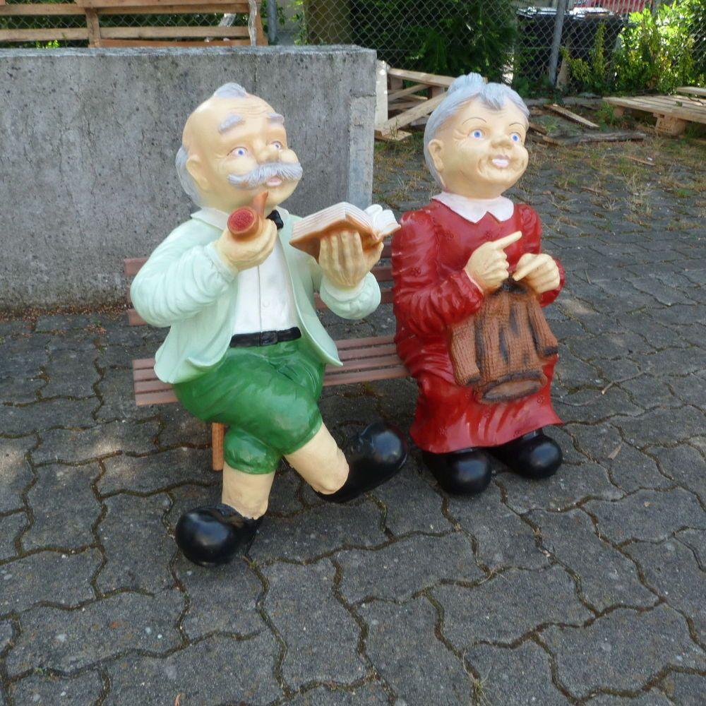Oma Und Opa Auf Einer Bank 80 Cm Omafigur Opafigur Figuren