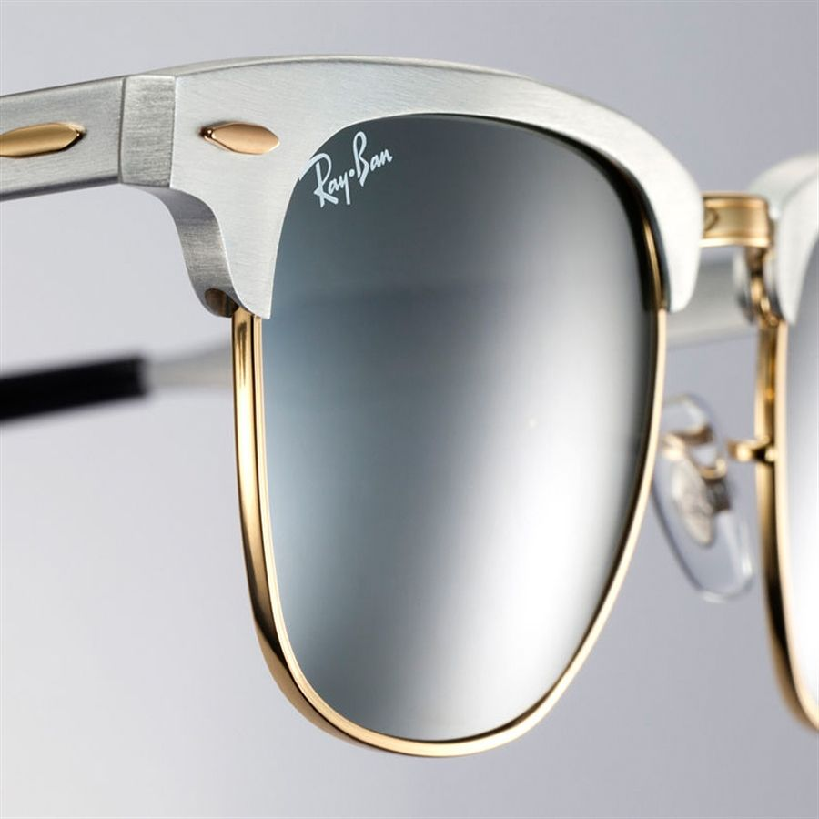 0ba9c4bed4499 Óculos de sol Unissex Ray Ban Linha Clubmaster Alumínio Prata com ...