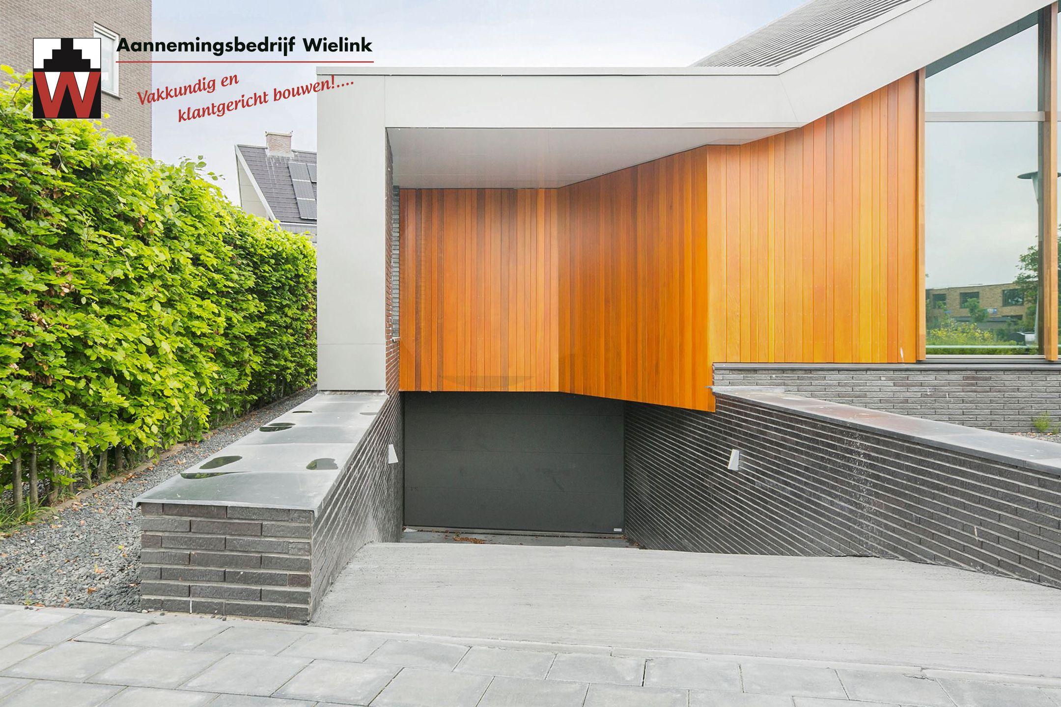 Moderne villa met ondergrondse garage bouwen moderne for Moderne villa architectuur