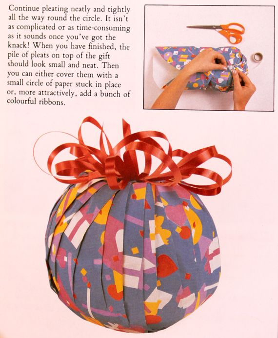Wrapping A Sphere Showing The Finished Gift ℬε ḉґℯαтїℯ