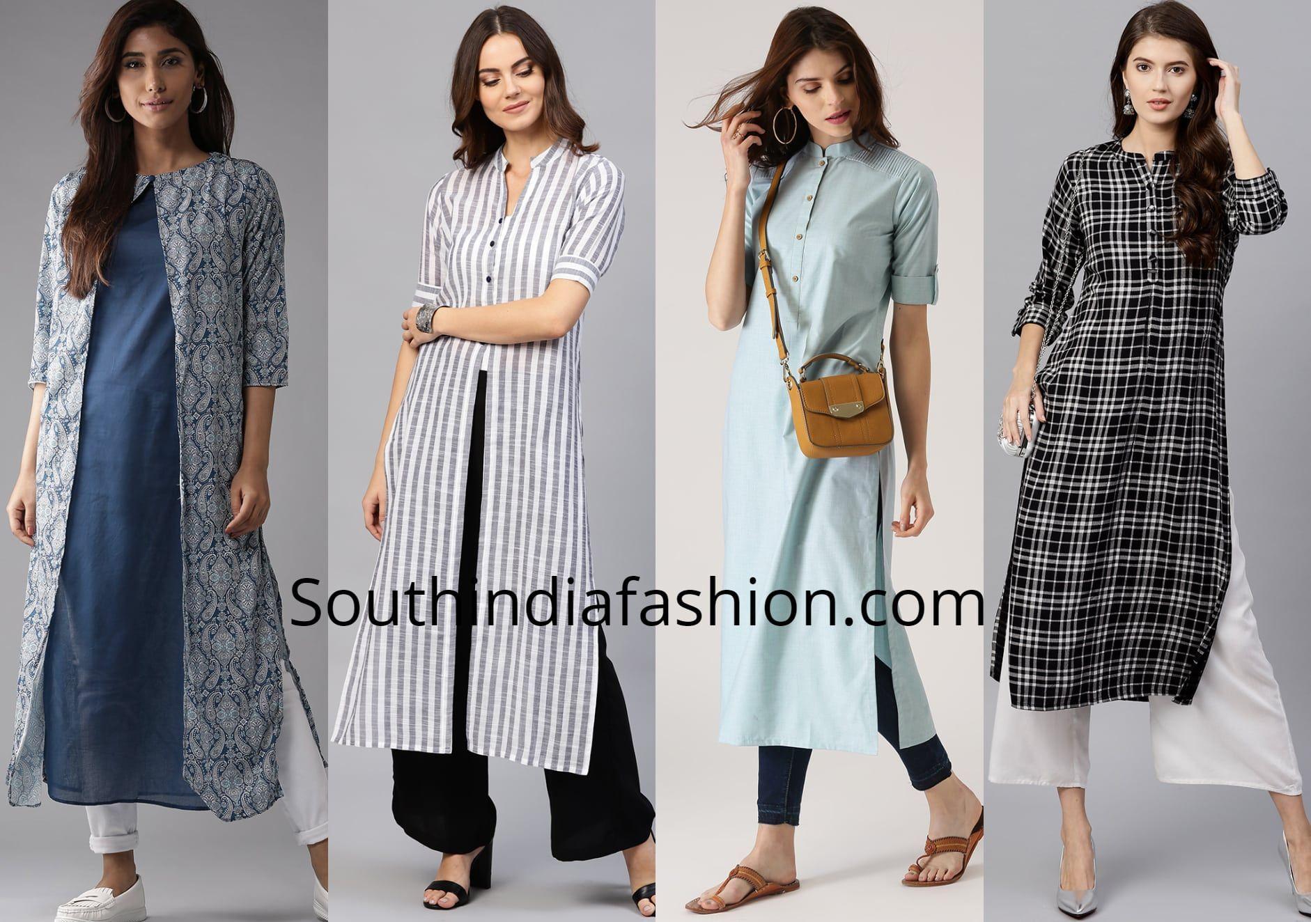5 Stylish Office Wear Kurtis Stylish Office Wear Office Attire Women Formal Wear Women