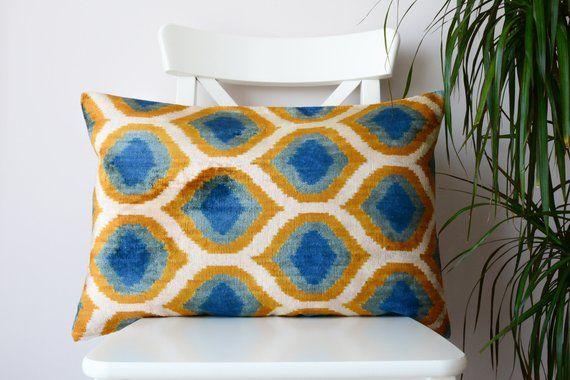 Wondrous Yellow Blue Ikat Pillow Ikat Throw Pillow Yellow Blue Ibusinesslaw Wood Chair Design Ideas Ibusinesslaworg