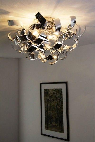 LED Deckenleuchte Design Lampe Chrom Deckenstrahler Leuchte Deckenlampe Leuchten