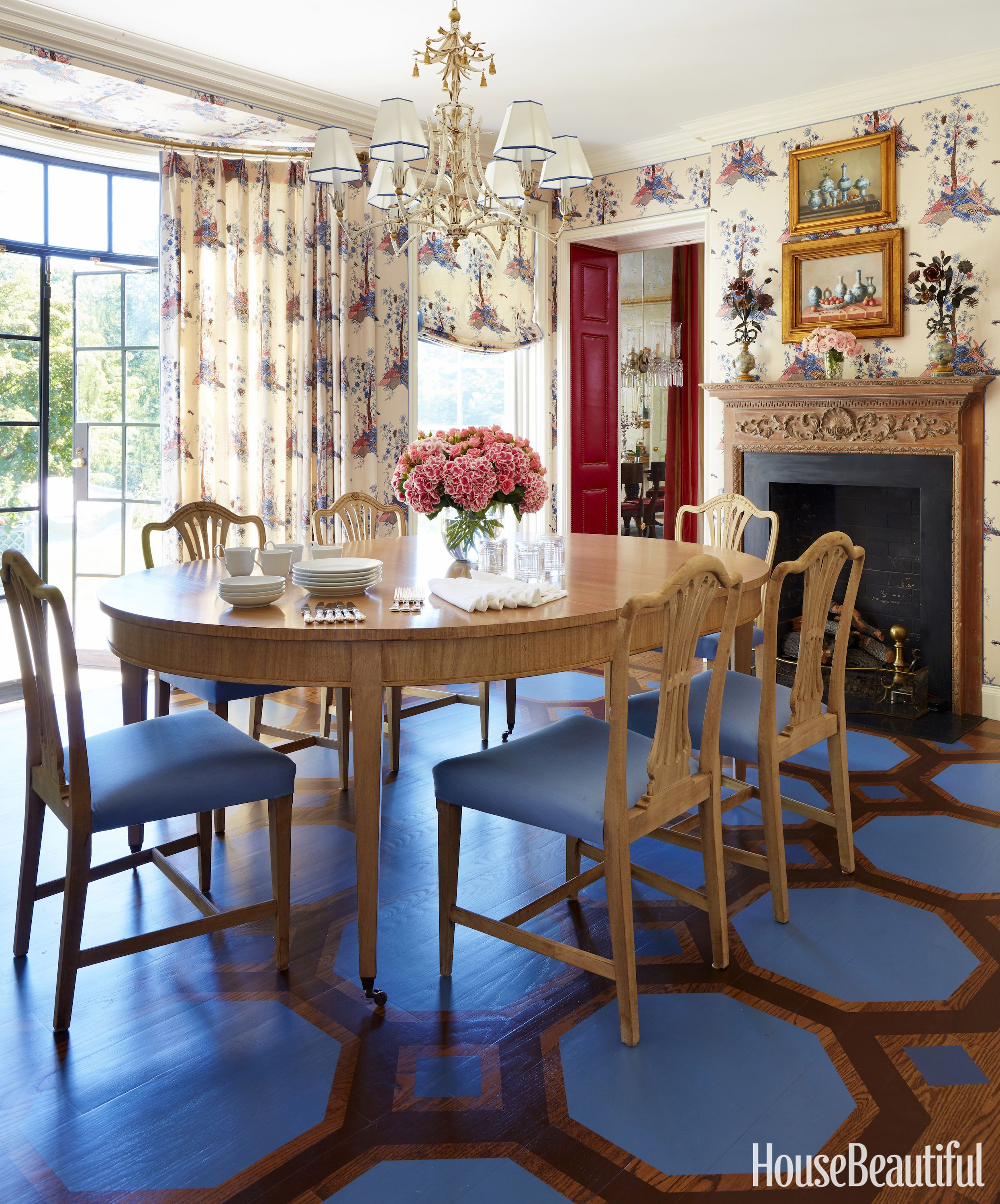 Christopher Maya Designed Classic Georgian Dining Room In House Beautiful