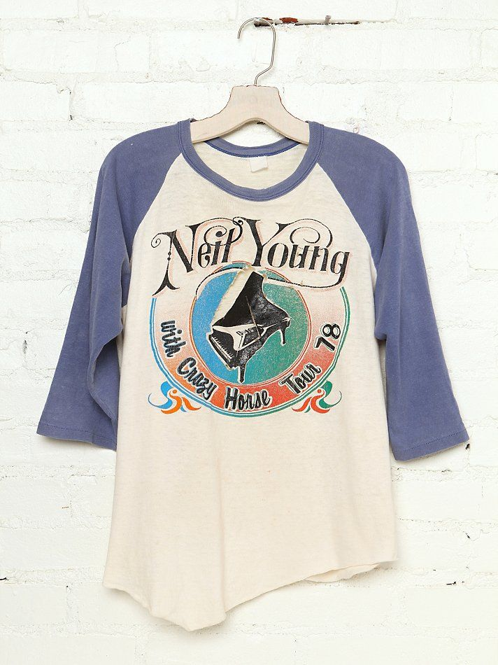 Vintage Neil Young with Crazy Horse Tour Tee http   www.freepeople. 92523439b24