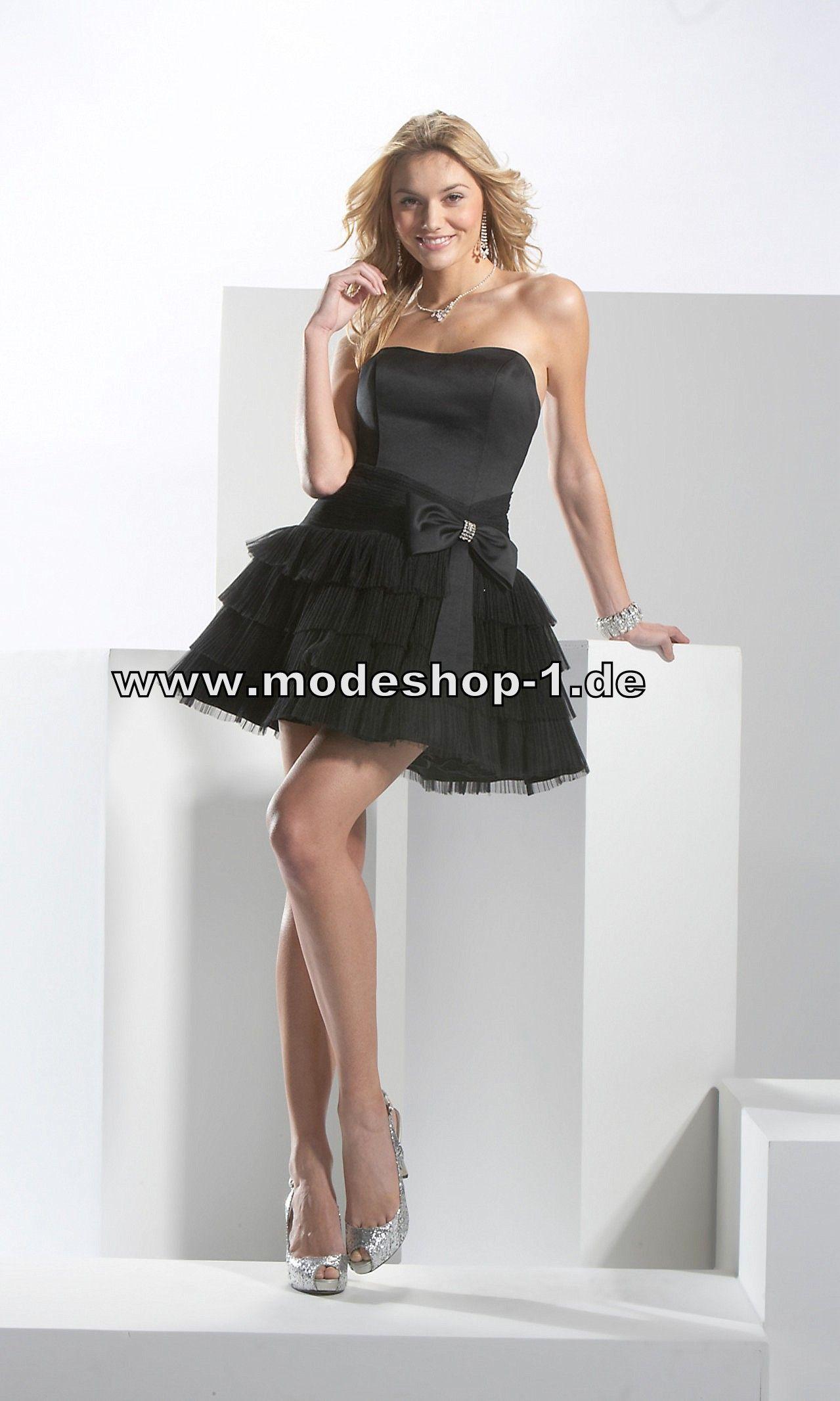 A Linie Abendkleid Kurz Cocktailkleid in Schwarz 148 € www.modeshop ...
