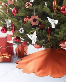 Scalloped Felt Tree Skirt Diy Christmas Tree Skirt Diy Christmas Tree Creative Christmas Trees