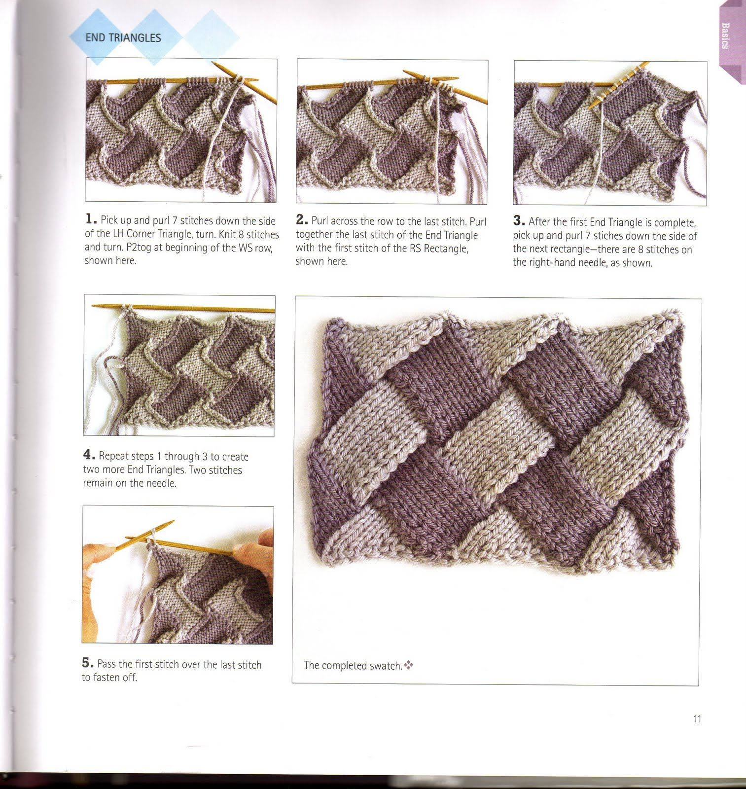 Knitting Unlimited: What is Entrelac knitting? How to Entrelac ...