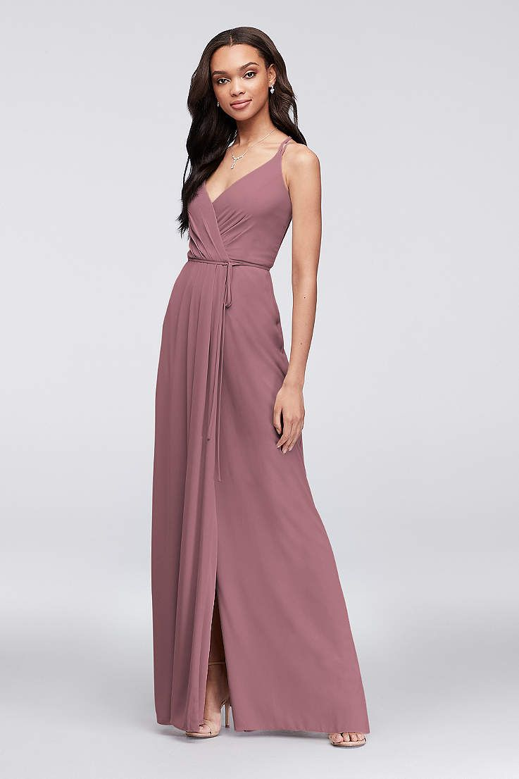 125a427dd790 Soft   Flowy David s Bridal Long Bridesmaid Dress