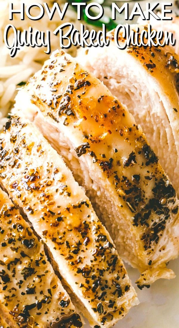 Easy Baked Chicken Breasts | How to Make Tender & Juicy Chicken