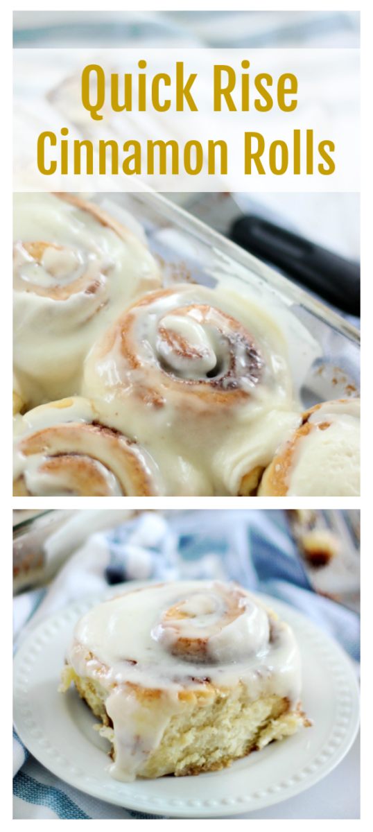 Quick Rise Cinnamon Rolls Recipe With Buttercream Frosting (Video)