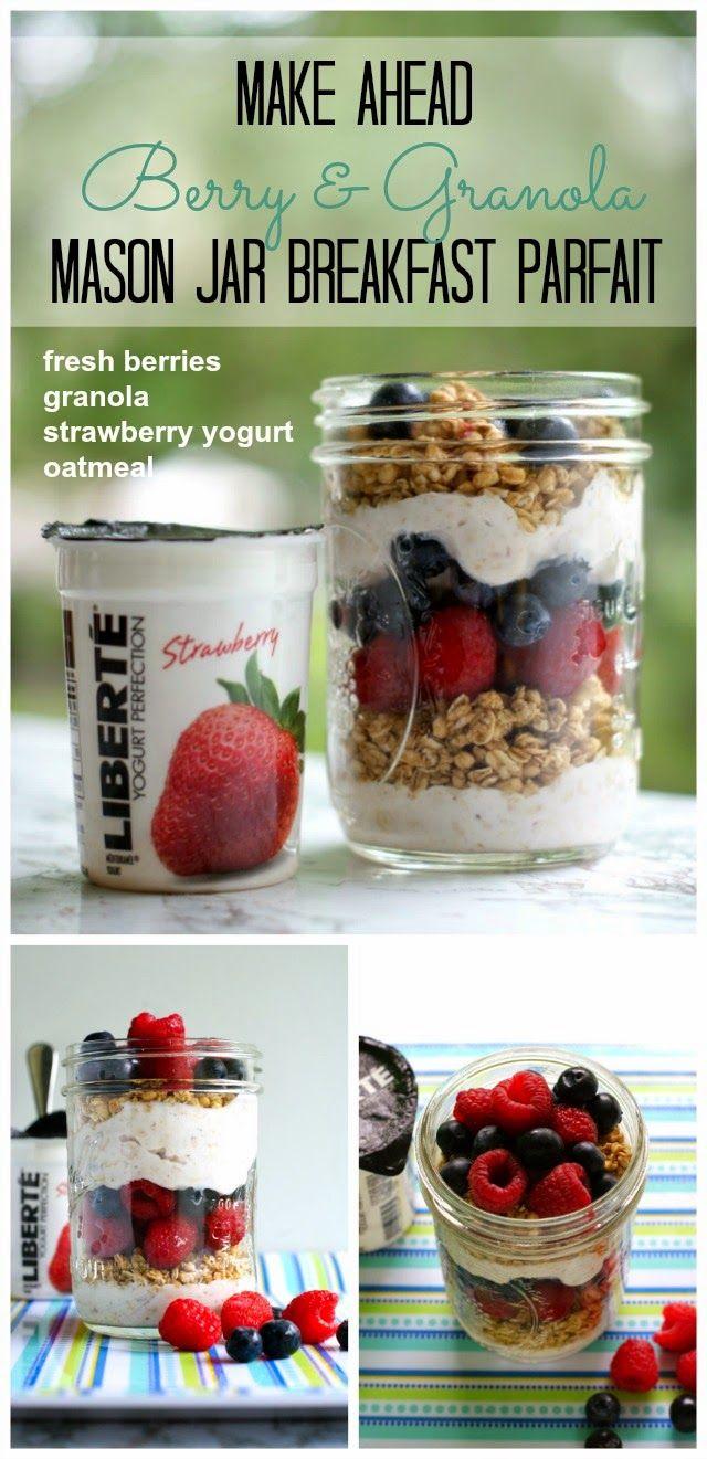 5 Make-Ahead Mason Jar Breakfast Parfait Recipes {with