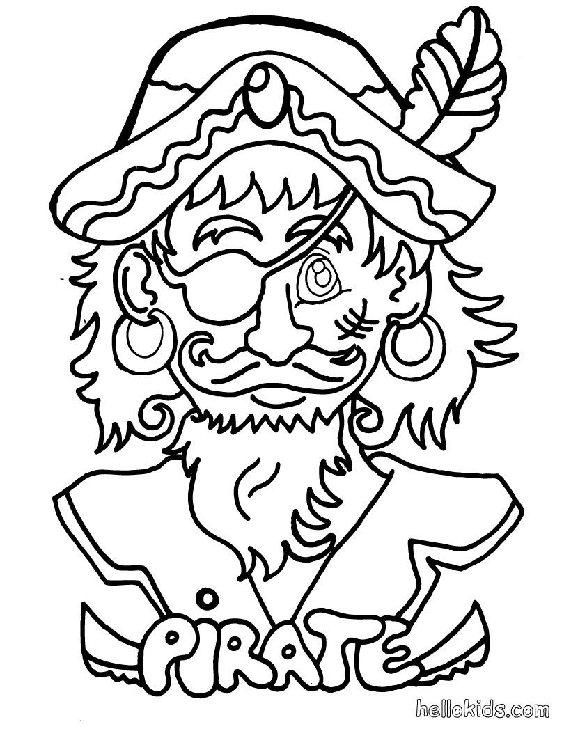 Free Pirate Coloring Pages With Pirate