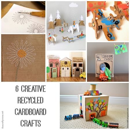 6 creative recycled cardboard crafts for kids cardboard for Creative recycling ideas for kids