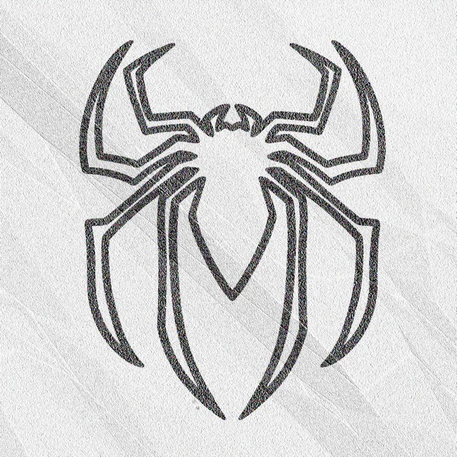эмблема человека паука картинки карандашом отель