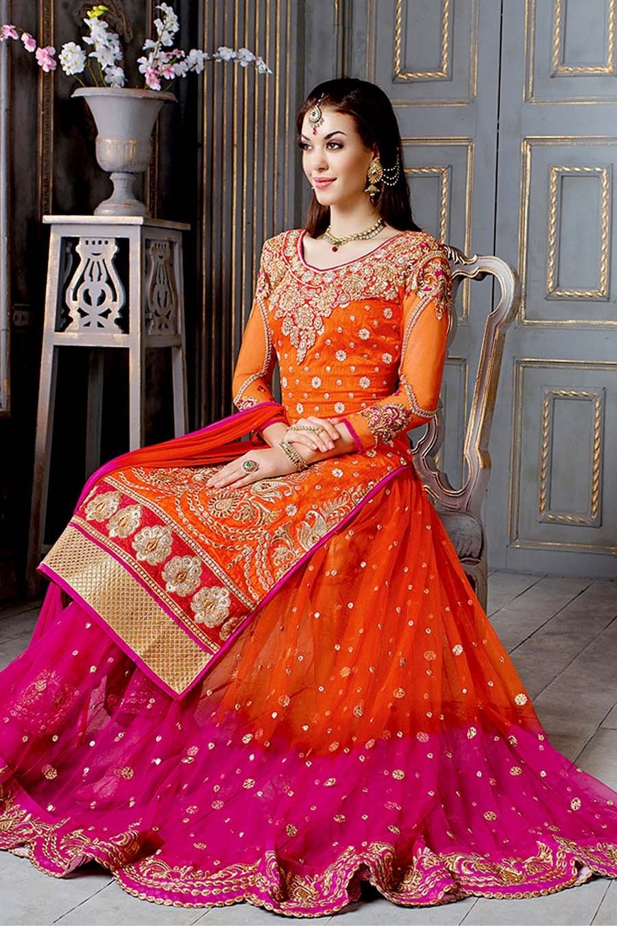a75d6fc153 Lehenga With Long Kameez | Bollywood Glam in 2019 | Lehenga, Pink ...