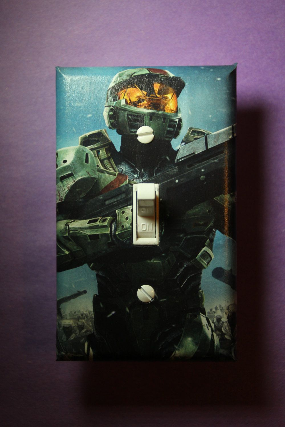 Halo Master Chief Light Switch Plate Cover R Room Home Decor Comic Book Gaming Microsoft Xbox