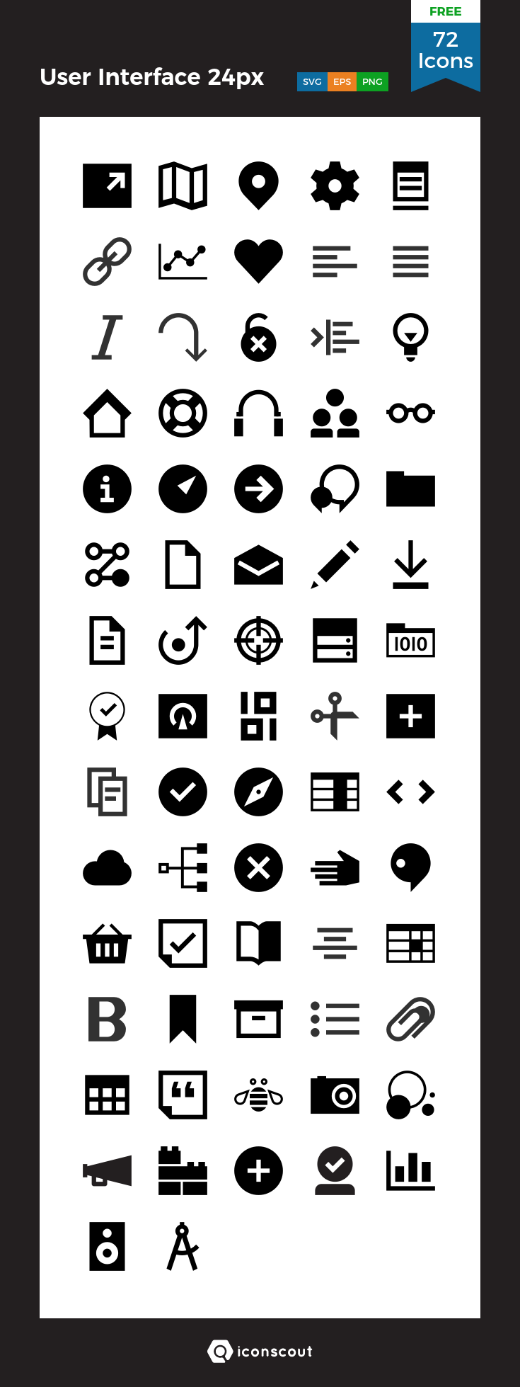 Download User Interface 24px Icon pack Available in SVG