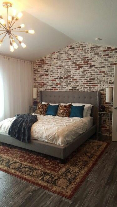 Pin By Katy H On Bedroom Ideas In 2020 With Images Faux Brick Walls Brick Wall Bedroom Master Bedroom Wall Decor