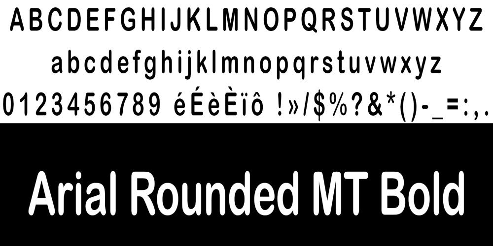 Arial Rounded MT Bold typo