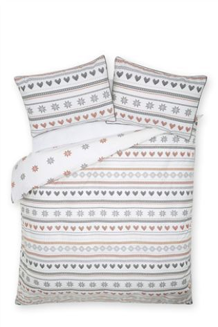 Buy Brushed Cotton Fairisle Print Bed Set from the Next UK online ...