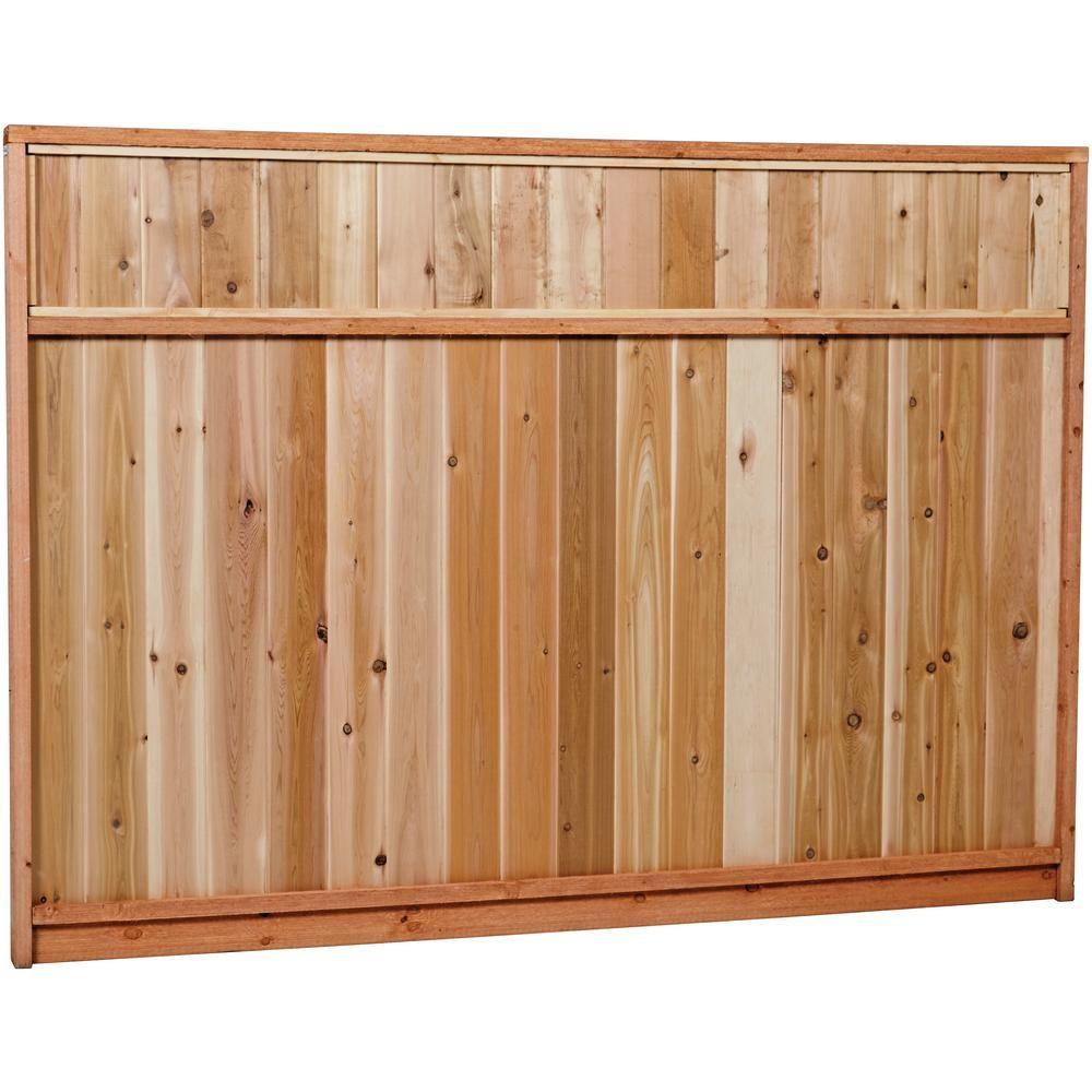 Outdoor essentials 312 ft x 8 ft western red cedar