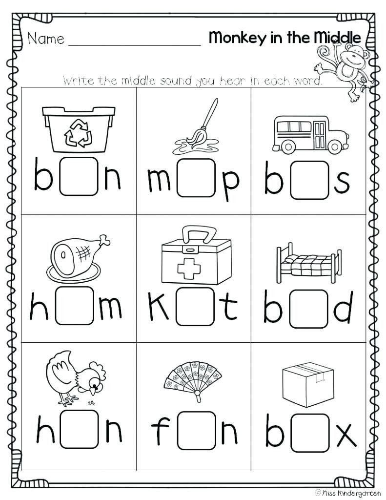 Initial Sound Worksheets For Kindergarten Beginning Middle End Sounds Kindergarten Wor Cvc Worksheets Kindergarten Middle Sounds Worksheet Phonics Kindergarten [ 1024 x 791 Pixel ]