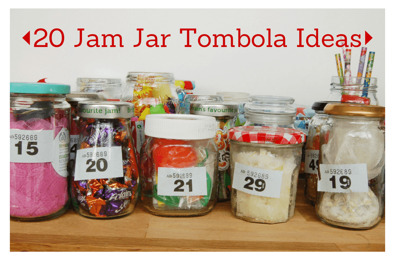 20 Jam Jar Tombola Ideas Christmas Fayre
