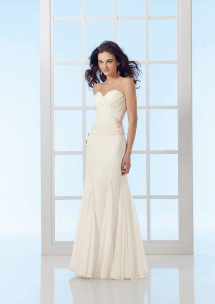 vestido de noiva com corte reto 2
