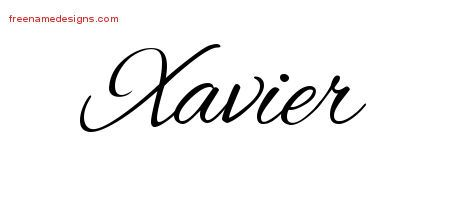 d55c14af31594 Cursive Name Tattoo Designs Xavier Free Graphic - Free Name Designs ...