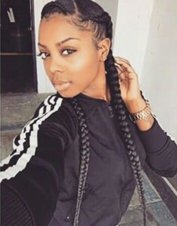 Two Braids Going Back Beautiful Braids Twists Pinterest