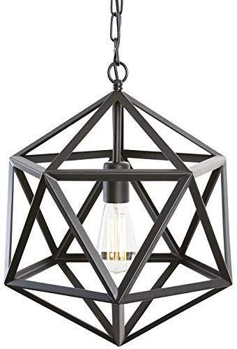 Light Society Geodesic Pendant Light, Matte Black