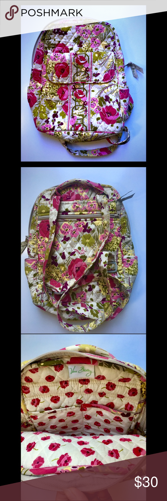 Vera Bradley Backpack Style Purse EUC. Comment with any questions :) Vera Bradley Bags