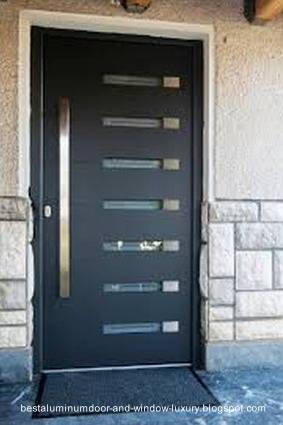 modernapuertaexteriordealuminio1jpg 283425 Puertas