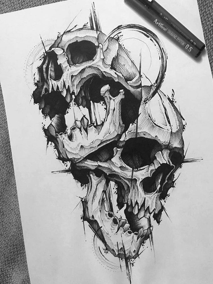 Tattoo Designs Of Skulls On Paper Tattoo Patterns Skulls Evil Skull Tattoo Scary Tattoos Skull Tattoo Design
