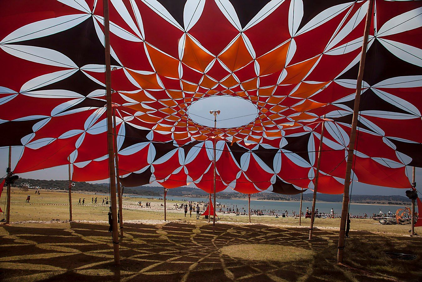 Beautiful Mandala Shade Structure By Bamboo Dna At Boom Festival 2012 Shade Structure