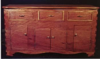 Wood Sideboard finished with the Waterlox Original Tung oil finishes