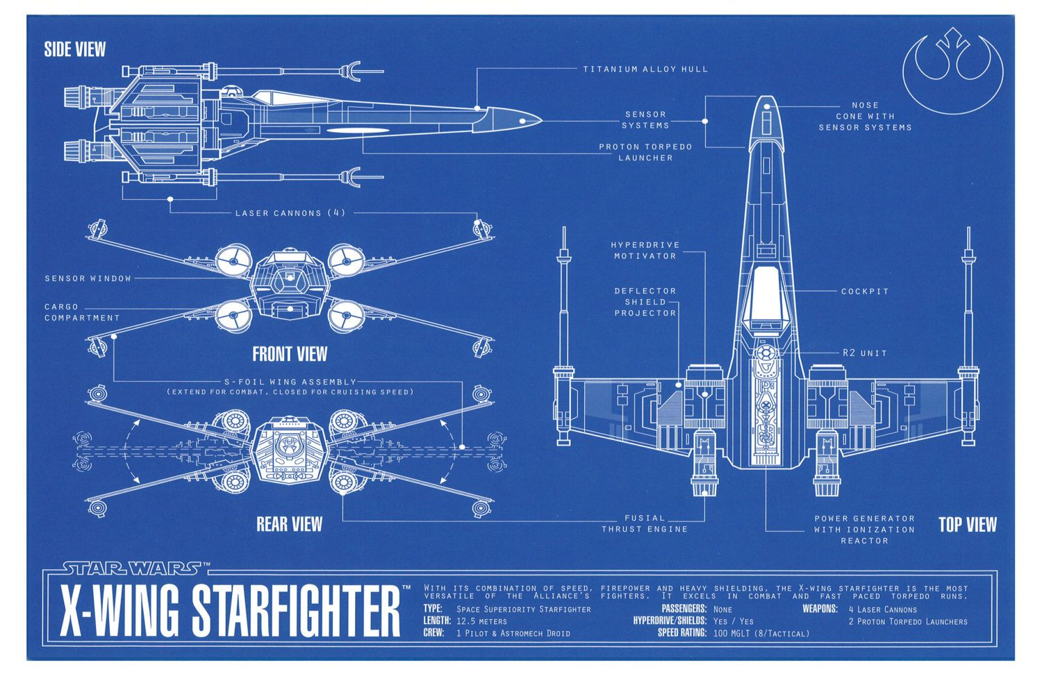 Star Wars X Wing Fighter Blueprint Stuff To Buy