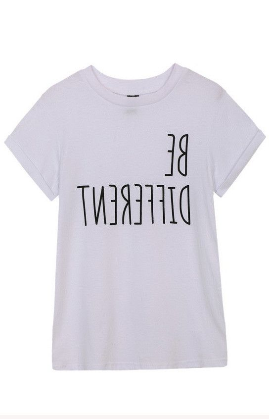 527cb3dc7 BE DIFFERENT T-Shirt   Fashion Design in 2019   Shirts, Clothes ...