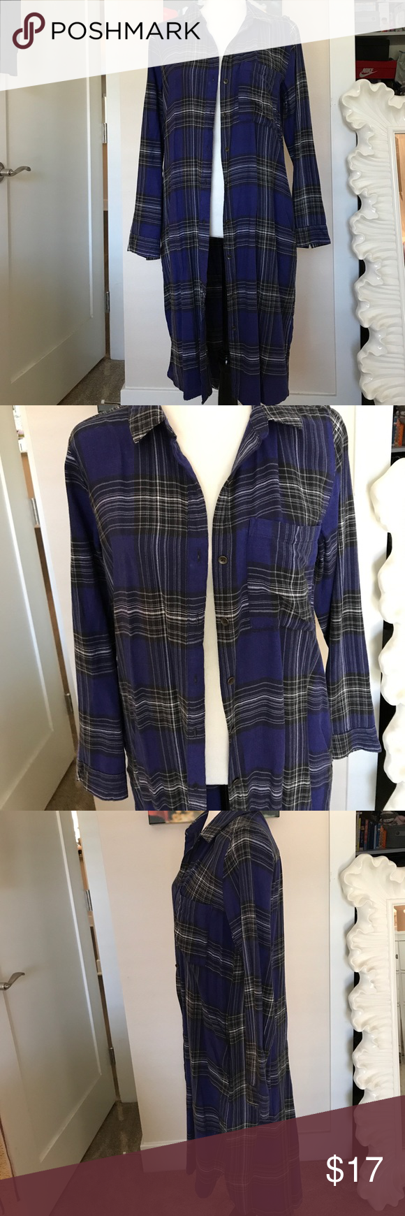 Big flannel outfits  NWT size Large flannel DressTop NWT  Plaid dress Flannels and Plaid
