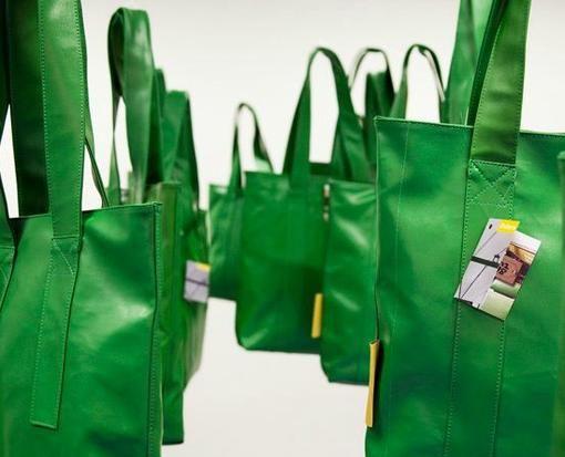 HBA - Mode van top tot teen - Treintas: shopper van oude groene