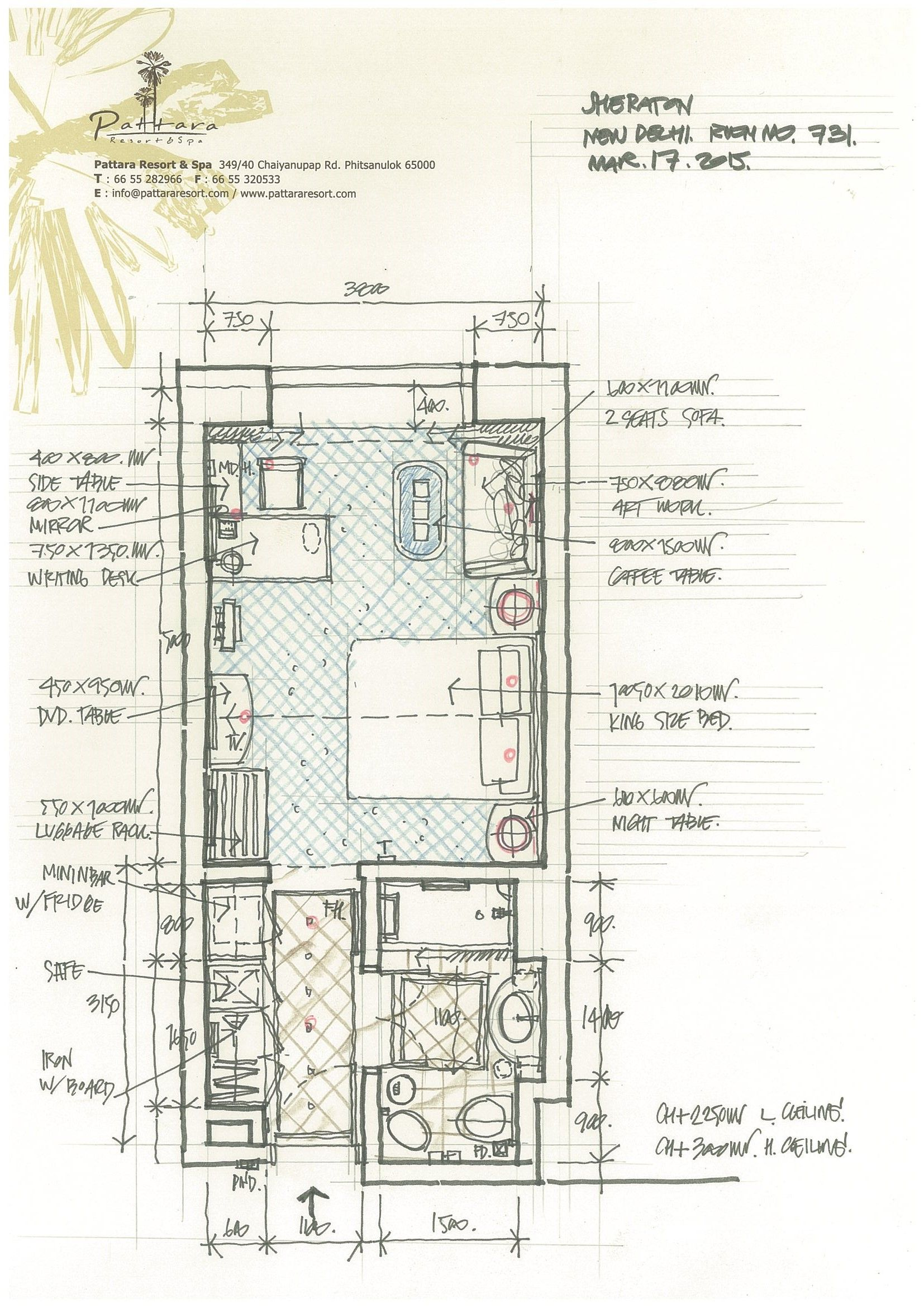 Pattara resort spa a interior hotel plan pinterest for Hotel plan design