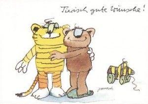 Tierisch Gute Wünsche Glückwünsche Janosch Tiger Bär Und Tigerente