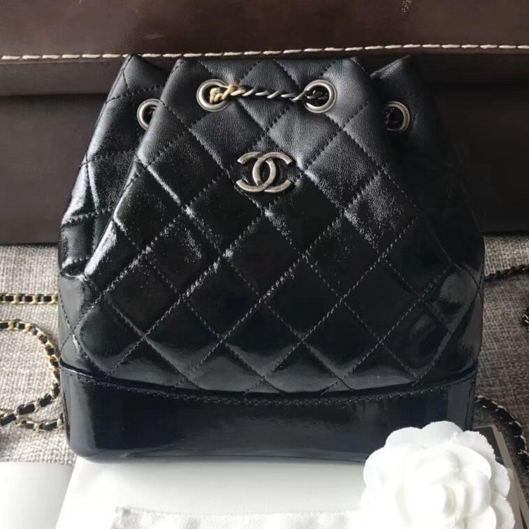e6a288f8409b Chanel Gabrielle Backpack Bag In Patent Goatskin Goatskin Black 2018 ...