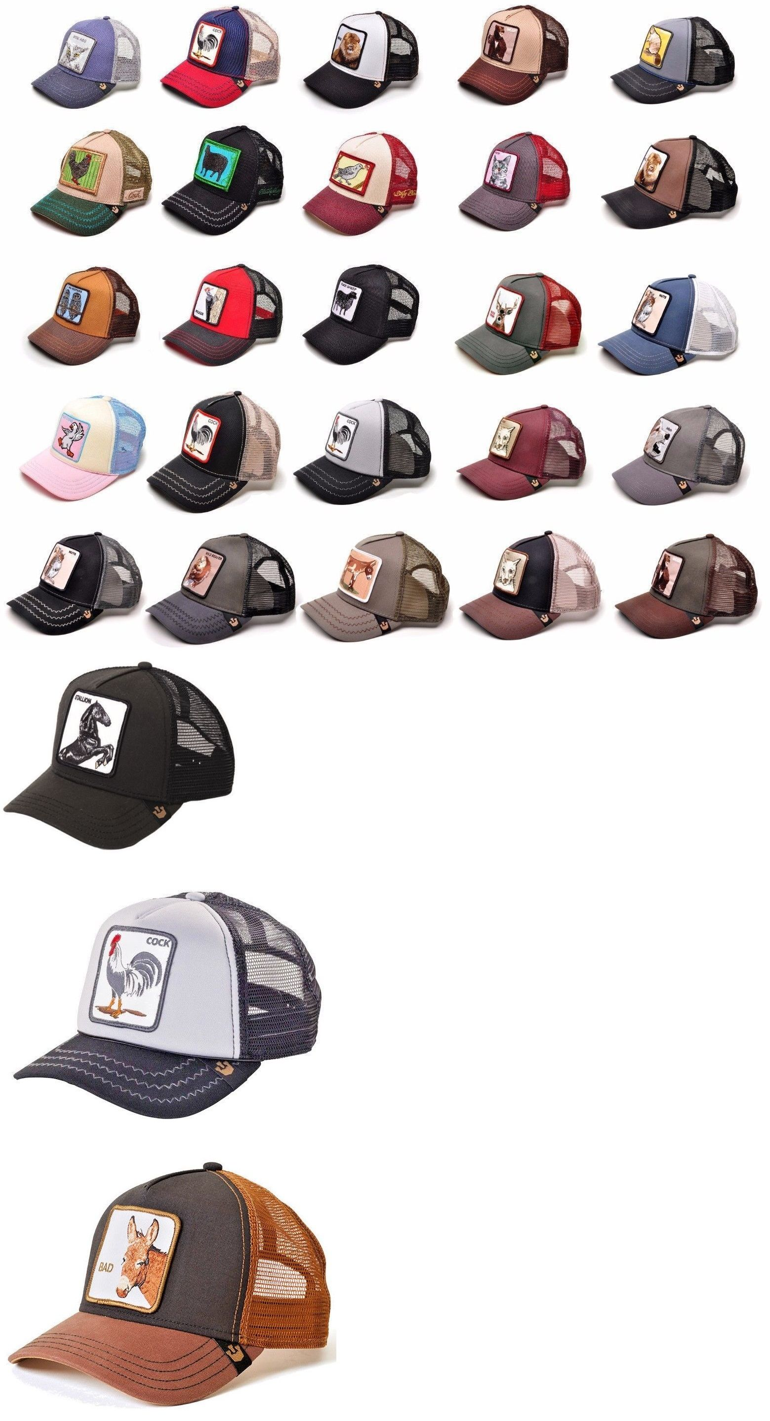 7b035b845f7b7 Hats 52365  Goorin Bros Animal Farm Snapback Trucker Hat Cap Rooster  Stallion Pecker Lion -  BUY IT NOW ONLY   44.99 on  eBay  goorin  animal   snapback ...