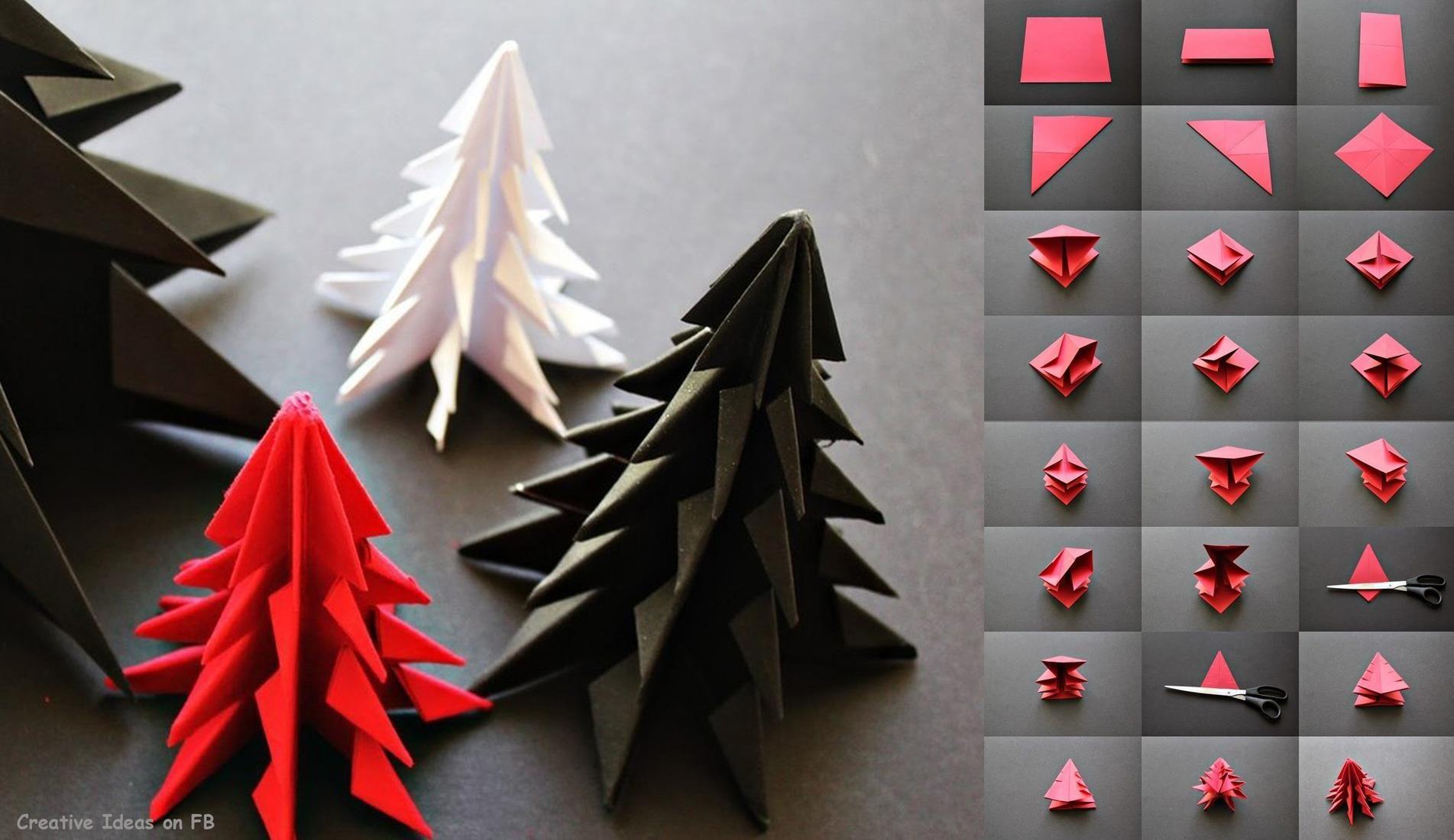 Christmas tree origami paper crafts pinterest xmas crafts