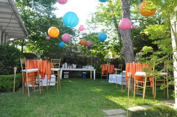 Elegant Backyard Party
