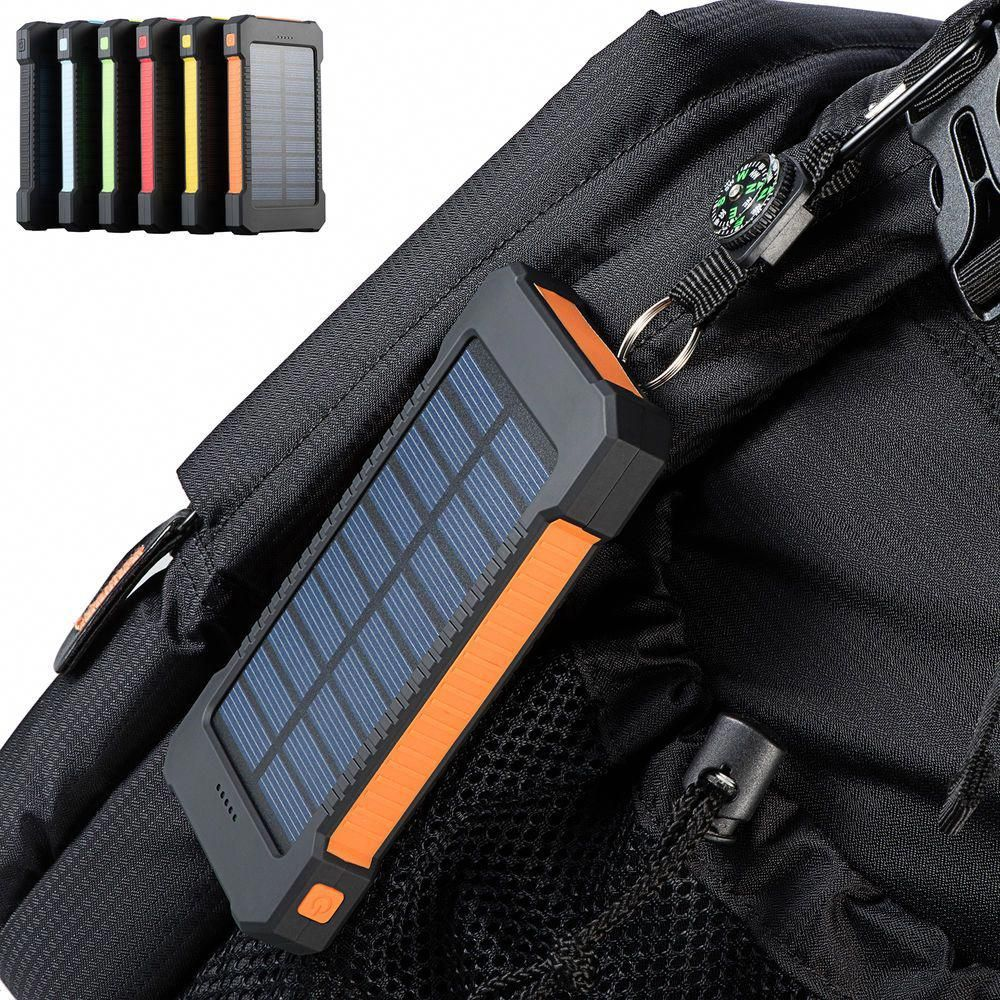 Us Deals Cars 300000mah Dual Usb Portable Solar Battery Charger Solar Power Bank For Phone Usa Solar Battery Charger External Battery Charger Solar Power Bank