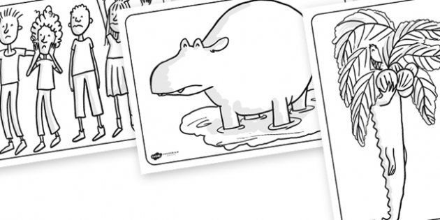 The Enormous Crocodile Colouring Pages The Enormous Crocodile